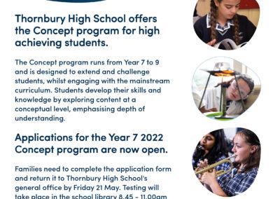 Concept Program 2021 Thorbury